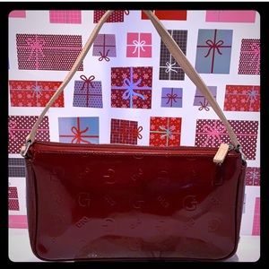GentlyUsed GUESS Patent Red  Mini Shoulder Bag